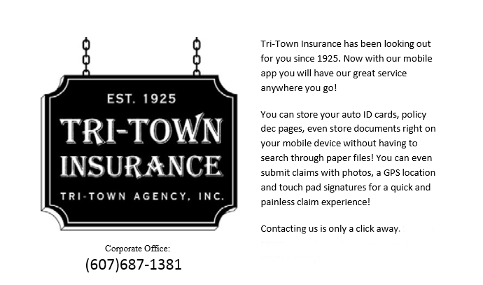 Tri-Town Insurance: We're lookin' out for you since 1925!